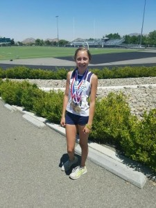 Here is a photo of Camille at AAU Westcoast Nats. Sign was in parking lot of school.  Submitted by: John Peisner