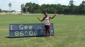 Octavia won three gold medals and a eight place finish in the 4x100 relay. She broke the javelin turbo record.   DaMario can in fourth place in the javelin turbo.