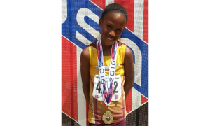 PAYTON KEELING WINS GOLD.  8 year old National Campion Payton Keeling.  Payton won gold in the turbo javelin.